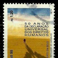 Sellos: BRASIL SCOTT: 2703 (DECLARACION UNIVERSAL DE LOS DERECHOS HUMANOS, 50º) USADO. Lote 179332915