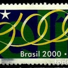 Sellos: BRASIL SCOTT: 2732 (MILENIO: FELIZ 2000) USADO. Lote 179333180
