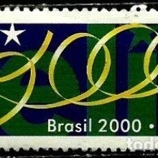 Sellos: BRASIL SCOTT: 2732 (MILENIO: FELIZ 2000) USADO. Lote 179333196