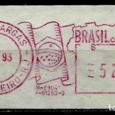 Sellos: BRASIL (FRANQUEO MECÁNICO EN ETIQUETA) (1993 - RIO DE JANEIRO - PRES. VARGAS) USADO. Lote 179333565