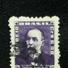 Sellos: CORREO DE BRASIL, 0,50 CR, JOAQUIN MURINHO, 1954. . Lote 183507210