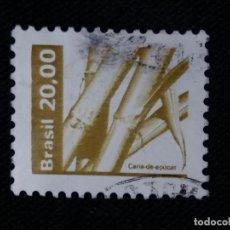 Sellos: CORREO DE BRASIL, 20,00, CAÑA DE AZUCAR, AÑO 1987. . Lote 183508330