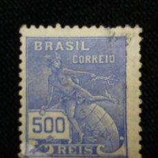 Sellos: CORREO DE BRASIL, 500 REIS, , AÑO 1930. . Lote 183509261