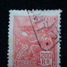 Sellos: CORREO DE BRASIL, 200 REIS, AVIACION, AÑO 1921. . Lote 183509481
