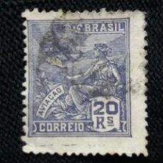 Sellos: CORREO DE BRASIL, 20 REIS, AVIACION, AÑO 1936. . Lote 183509721
