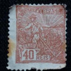 Sellos: CORREO DE BRASIL, 40 REIS, AGRICULTORA, AÑO 1936. . Lote 183509887