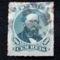 Sellos: CORREO DE BRASIL, 100 CEN REIS, SIN PERFORAR, AÑO 1890. . Lote 183510278