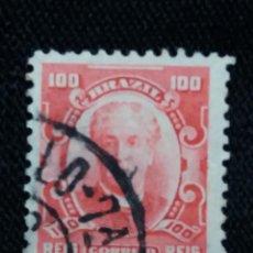 Sellos: CORREO DE BRASIL,100 REIS, WANDJK. AÑO 1913. . Lote 183511106