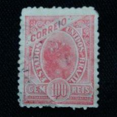 Sellos: CORREO DE BRASIL,100 REIS, ESTADOS UNIDOS DE BRASIL. AÑO 1905. . Lote 183511520