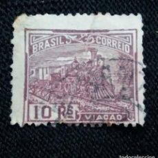 Sellos: CORREO DE BRASIL,10 REIS, VIACAO. AÑO 1920. . Lote 183511902