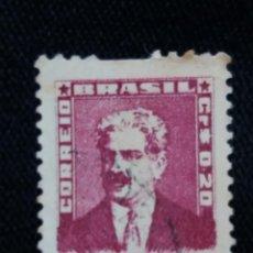 Sellos: CORREO DE BRASIL, 0,20 CR, OSWALDO CRUZ. AÑO 1954. . Lote 183512576