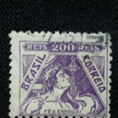 Sellos: CORREO DE BRASIL, 200 REIS, FE Y ENERGIA, AÑO, 1920. Lote 183513631