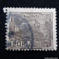 Sellos: CORREOS, BRASIL 20 REIS, AVIACION, AÑO 1920,. Lote 183713963