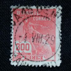 Sellos: CORREOS, BRASIL 300 REIS, AÑO 1930, SIN USAR. Lote 183721060