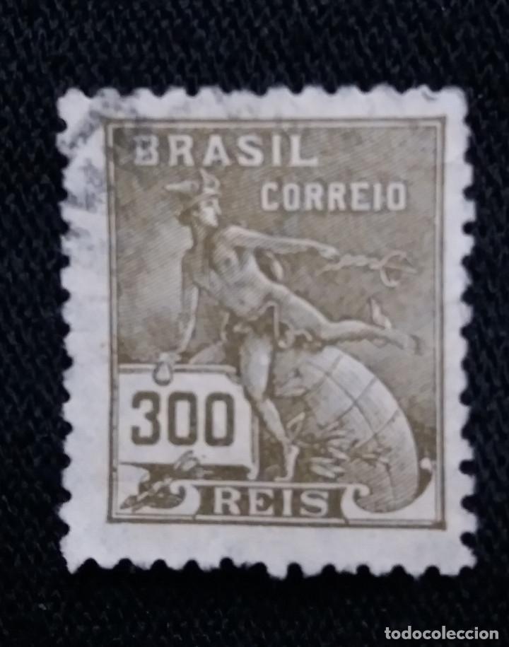 CORREOS, BRASIL 300 REIS, AÑO 1920, (Sellos - Extranjero - América - Brasil)