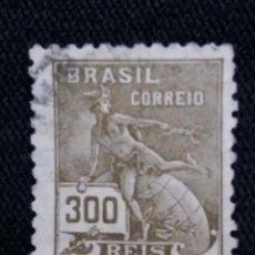 Sellos: CORREOS, BRASIL 300 REIS, AÑO 1920, . Lote 183722777