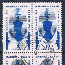 Sellos: SELLO USADO BRASIL 1967 YVES 839 BONITO BLOQUE DE 4. Lote 187121533