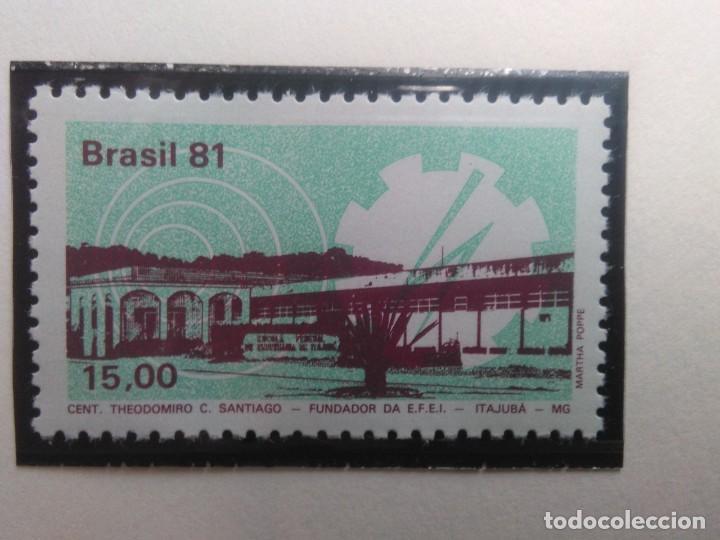 CENTENARIO DE LA ESCUELA DE INGENIERIA ITAJUBA , YVERT 1516 , AÑO 1981 (Sellos - Extranjero - América - Brasil)