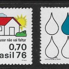 Sellos: BRASIL. YVERT NSº 1181/82 NUEVOS Y UN SELLO DEFECTUOSO. Lote 194528715