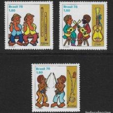 Sellos: BRASIL. YVERT NSº 1321/23 NUEVOS Y DEFECTUOSOS. Lote 195434916