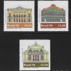 Sellos: BRASIL. YVERT NSº 1350/52 NUEVOS Y DEFECTUOSOS. Lote 196289067