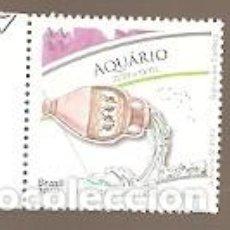 Sellos: BRASIL ** & SIGNOS DEL ZODIACO, ACUARIO 2020 (3881). Lote 196876956
