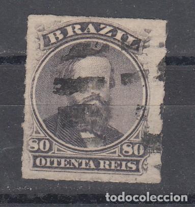 BRASIL 33 USADA, PEDRO II (Sellos - Extranjero - América - Brasil)