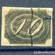 Sellos: YVERT 4 DE BRASIL. 10 R, AÑO 1844. CALIDAD NORMAL DE LA ÉPOCA. Lote 198365506