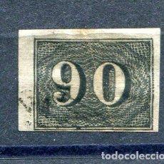 Sellos: YVERT 15 DE BRASIL. 90 R, NEGRO, AÑO 1850. CALIDAD NORMAL DE LA ÉPOCA. Lote 198365790