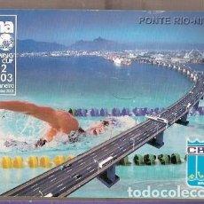 Sellos: BRASIL ** & INTERO POSTAL, COPA MUNDIAL DE NATACIÓN, RÍO DE JANEIRO, PONTE RIO NITEROI 2002 (6866). Lote 198618828