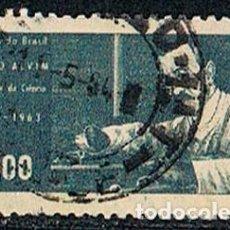 Sellos: BRASIL Nº 1064, ÁLVARO ALVIM, MÉDICO RADIÓLOGO BRASILEÑO, USADO. Lote 199748253