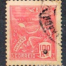 Sellos: BRASIL Nº 243 (AÑO 1.921), ALEGORIA DE LA AVIACIÓN, USADO. Lote 199755122