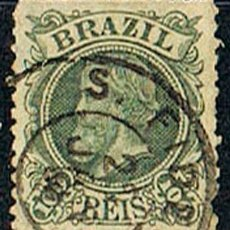 Sellos: BRASIL Nº 54 (AÑO 1.881), EL EMPERADOR PEDRO II, USADO. Lote 199755752