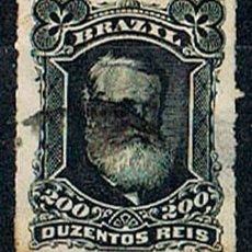 Sellos: BRASIL Nº 47 (AÑO 1.877), EL EMPERADOR PEDRO II, USADO. Lote 199755905