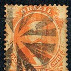 Sellos: BRASIL Nº 35 (AÑO 1.866), EL EMPERADOR PEDRO II, USADO. Lote 199756278