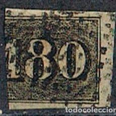 Sellos: BRASIL Nº 16 (AÑO 1.850), CIFRAS, TIPO OJO DE BUEY, USADO BISECTADO. Lote 199756446