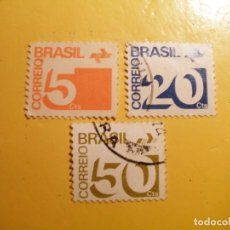 Sellos: BRASIL - NÚMERO- SERIE BASÍCA.. Lote 205519531