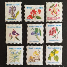 Sellos: BRASIL, FLORES BRASILEÑAS 1989/92 MNH (FOTOGRAFÍA REAL). Lote 207930151