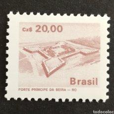 Sellos: BRASIL, FORTALEZA PRINCIPE DE BEIRA 1987 MNH (FOTOGRAFÍA REAL). Lote 207931536