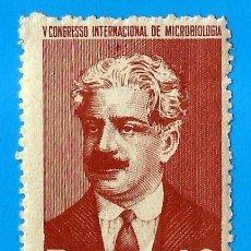 Selos: BRASIL. 1950. DR. OSWALDO CRUZ. CONGRESO DE MICROBIOLOGIA. Lote 210332165