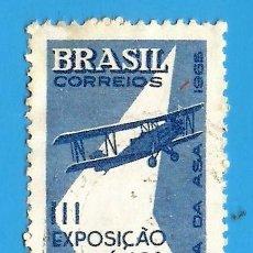Selos: BRASIL. 1965. EXPOSICION FILATELICA. AVION. Lote 211420456