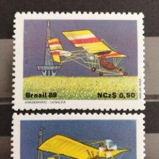 Sellos: BRASIL, AVIACIÓN 1989 MNH (FOTOGRAFÍA REAL). Lote 211490366