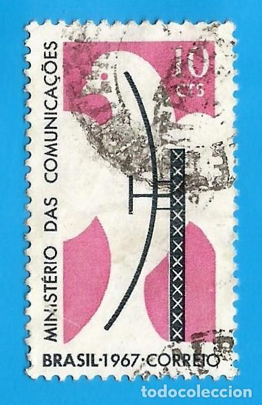 BRASIL. 1967. MINISTERIO DE COMUNICACIONES. PALOMA Y ANTENA (Sellos - Extranjero - América - Brasil)