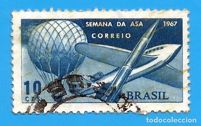 BRASIL. 1967. SEMANA DE ASA. GLOBO, AVION Y COHETE (Sellos - Extranjero - América - Brasil)