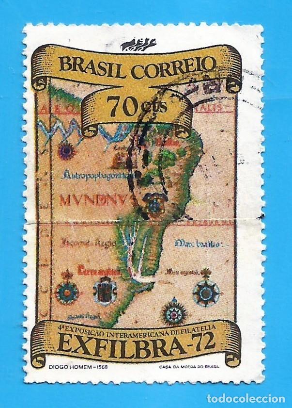 BRASIL. 1972. EXFILBRA '72. RIO DE JANEIRO. MAPA (Sellos - Extranjero - América - Brasil)