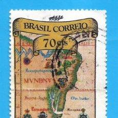 Sellos: BRASIL. 1972. EXFILBRA '72. RIO DE JANEIRO. MAPA. Lote 211585297