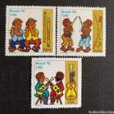 Sellos: BRASIL, INSTRUMENTOS MUSICALES 1978 MNH (FOTOGRAFÍA REAL). Lote 211590017