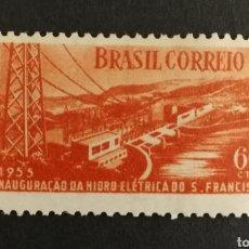 Sellos: BRASIL, INAUGURACIÓN DE LA HIDROELÉCTRICA SAN FRANCISCO 1955 MNH (FOTOGRAFÍA REAL). Lote 211596287
