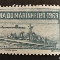 Sellos: BRASIL, DÍA DEL MARINERO 1969 MNH (FOTOGRAFÍA REAL). Lote 211596521