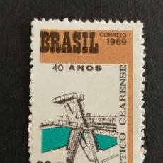 Sellos: BRASIL, 40°ANIVERSARIO DEL CLUB NÁUTICO CEARENSE 1969 MNG (FOTOGRAFÍA REAL). Lote 211597692